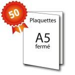50 Plaquettes A4 ouvert / A5 fermé - 5 jours