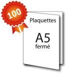 100 Plaquettes A4 ouvert / A5 fermé - 5 jours