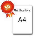 50 Plastifications A4 par encapsulage - 5 jours