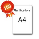 100 Plastifications A4 par encapsulage - 5 jours