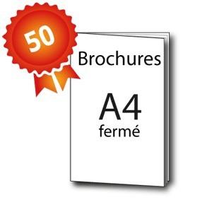 50 Brochures A4 (21x29,7 / 42x29,7) - 3 jours