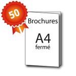 50 Brochures A4 - 3 jours