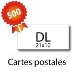500 Cartes postales panorama pelliculées - 2 jours