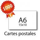 1000 Cartes postales A6 pelliculées - 2 jours
