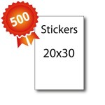 500 Stickers 20x30 - 5 jours