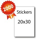 2000 Stickers 20x30 - 5 jours