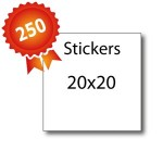 250 Stickers 20x20 - 5 jours