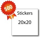 500 Stickers 20x20 - 5 jours