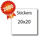 2000 Stickers 20x20 - 5 jours