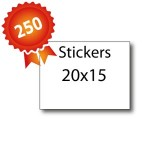 250 Stickers 20x15 - 5 jours