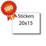 500 Stickers 20x15 - 5 jours