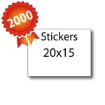 2000 Stickers 20x15 - 5 jours