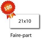 100 Faire-part 21x10 - 2 jours