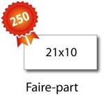 250 Faire-part 21x10 - 2 jours