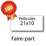 100 Faire-part 21x10 pelliculés - 2 jours