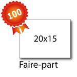 100 Faire-part 20x15 - 2 jours