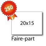 250 Faire-part 20x15 - 2 jours