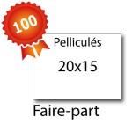 100 Faire-part 20x15 pelliculés - 2 jours