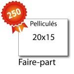 250 Faire-part 20x15 pelliculés - 2 jours