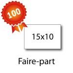 100 Faire-part 15x10 - 2 jours