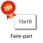250 Faire-part 15x10 - 2 jours