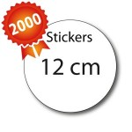 2000 Stickers ronds 12 - 5 jours