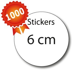 1000 Stickers ronds 6 - 5 jours