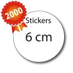 2000 Stickers ronds 6 - 5 jours