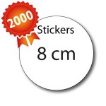 2000 Stickers ronds 8 - 5 jours