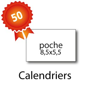 50 Calendriers A4 - 2 jours