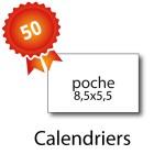 50 Calendriers de poche 8,5x5,5 cm - 2 jours