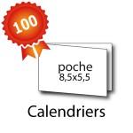 100 Calendriers de poche 8,5x5,5 / 17x5,5 cm - 3 jours