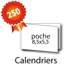 50 calendriers de poche 8,5x5,5 / 17x5,5 cm