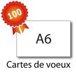 100 Cartes de voeux A6 - 2 jours
