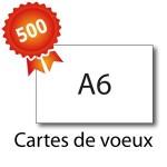 500 Cartes de voeux A6 - 2 jours