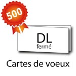 500 Cartes de voeux double volet DL 21x10 / 42x10 - 3 jours