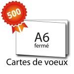 500 Cartes de voeux double volet A6 15x10 / 30x10 - 3 jours