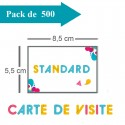 500 Cartes de visite standards - 2 jours
