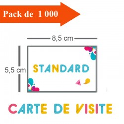 1000 Cartes De Visite Standards