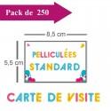 250 Cartes de visite standards pelliculées - 3 jours