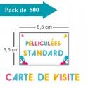 500 Cartes de visite standards pelliculées - 3 jours