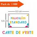1000 Cartes de visite standards pelliculées - 3 jours