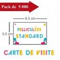 5000 Cartes de visite standards pelliculées - 10 jours