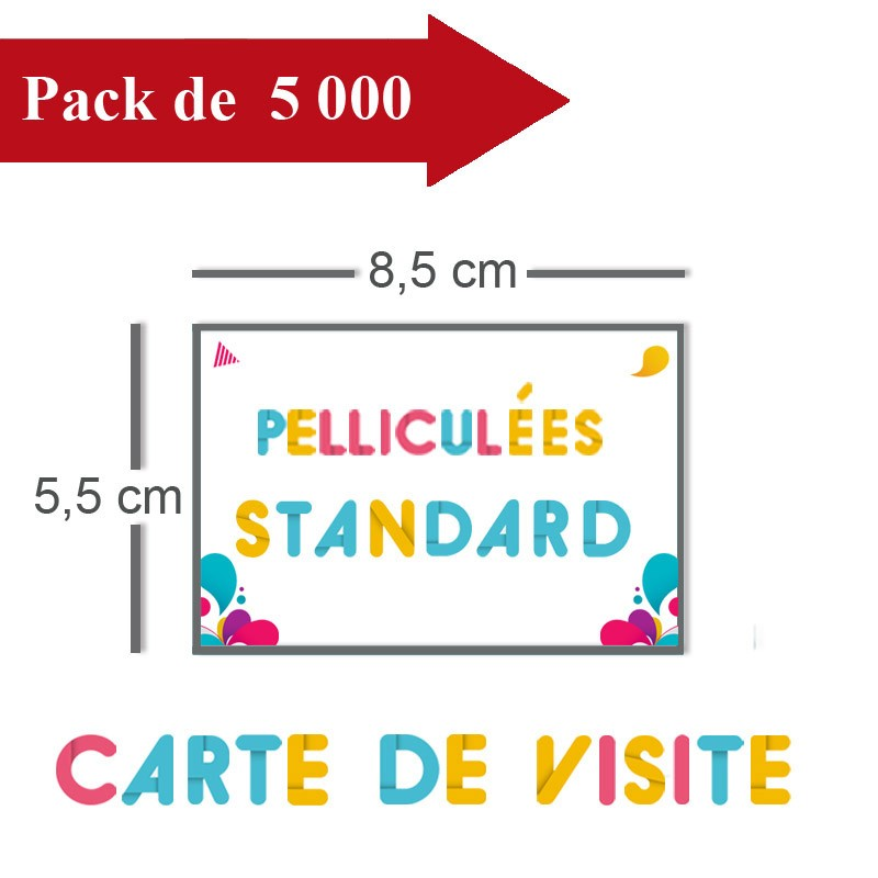 Impression 5000 Cartes De Visite Standards 85x55 Pellicules