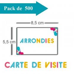 500 Cartes De Visite Coins Arrondis