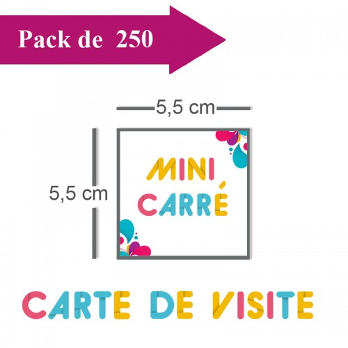 250 Cartes De Visite Mini Carre