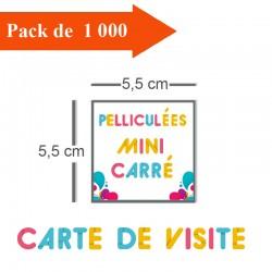 1000 Cartes de visite mini carré - 2 jours