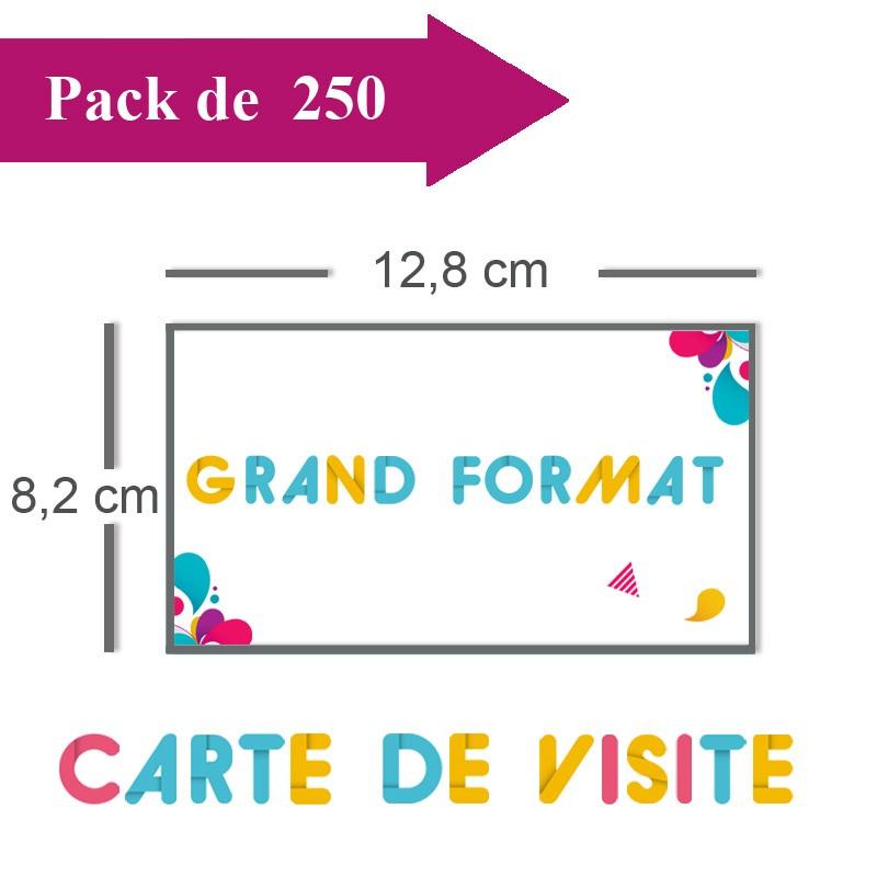 Impression 250 Cartes De Visite Grand Format 128x82