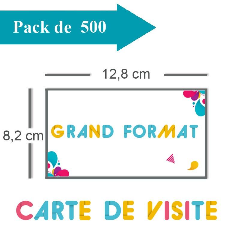 Impression 500 Cartes De Visite Grand Format 128x82