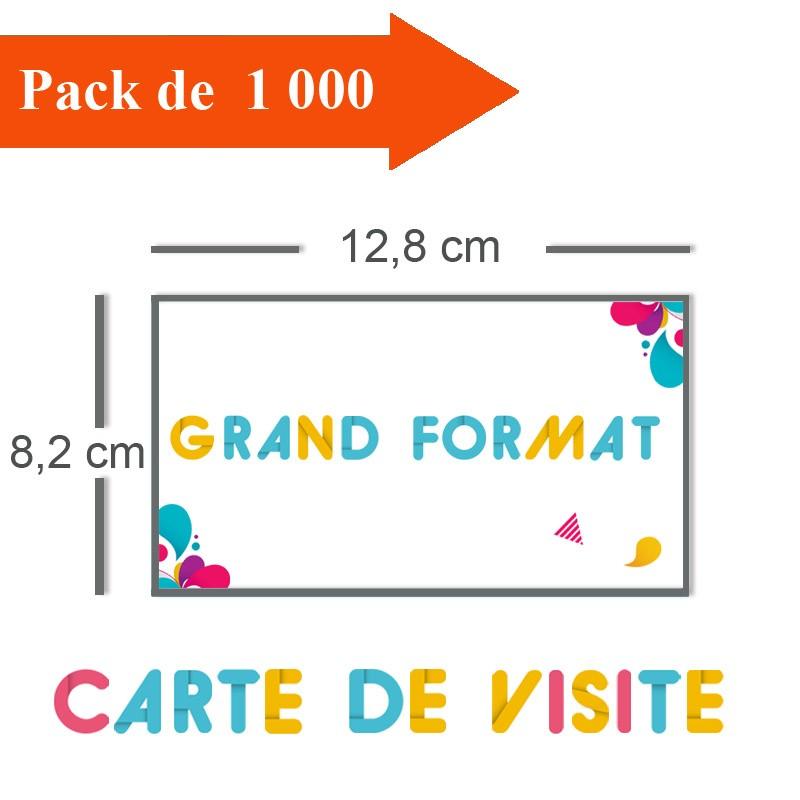 Impression 1000 Cartes De Visite Grand Format 128x82